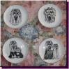 тарелки с изображением йорка - дизайн студия WFS